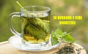 10 bevande e cibi diuretici e sgonfianti